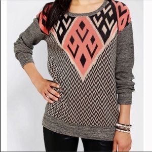 Urban Outfitters Ecote Geometric Crew Neck sweater